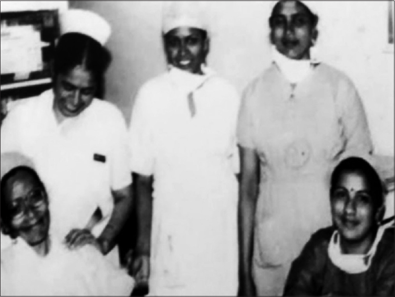Figure 20: Sister Washington with team. Photo courtesy Sister Pancy Chauhan